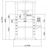 prasy hydrauliczne przemysłowe - 50T warsztatowa
